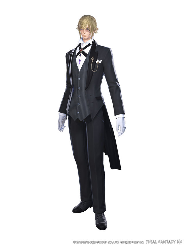 Butler outfits or formal wear would be