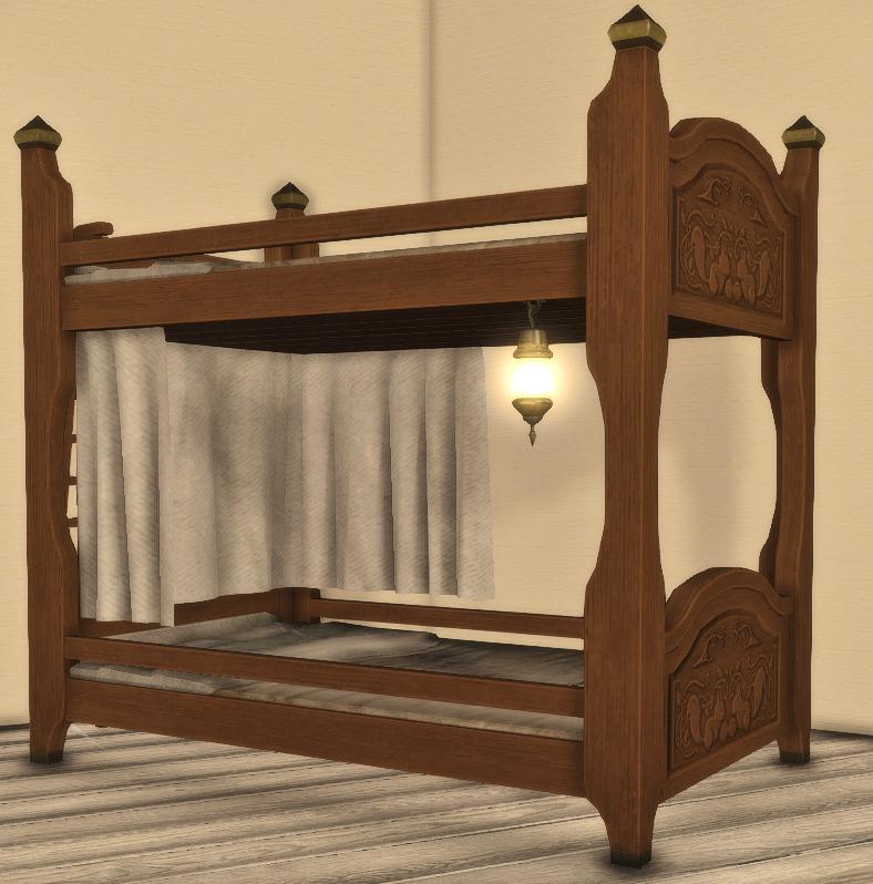Mahogany Bunk Bed Gamer Escape