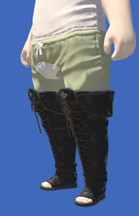 Model-Smilodonskin Open-toed Boots of Striking-Male-Lalafell.png