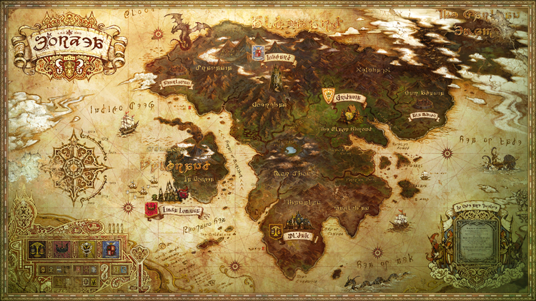 Old Map of Eorzea