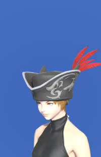 Model-Tricorne of the Daring Duelist-Female-Miqote.png