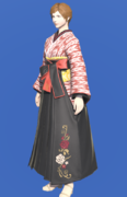 Model-Far Eastern Schoolgirl's Hakama-Female-Hyur.png