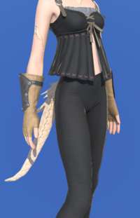 Model-Fingerless Boarskin Gloves of Gathering-Female-AuRa.png