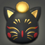Black Painted Moogle Mask Icon.png