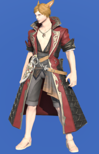Model-Griffin Leather Coat of Striking-Male-Miqote.png