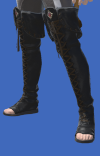 Model-Smilodonskin Open-toed Boots of Striking-Male-Miqote.png