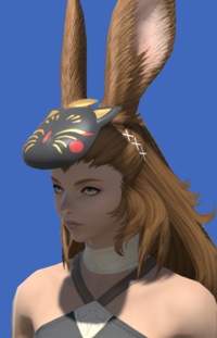 Model-Black Painted Moogle Mask-Female-Viera.png