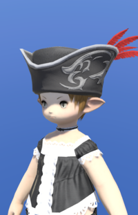 Model-Tricorne of the Daring Duelist-Female-Lalafell.png