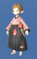 Model-Far Eastern Schoolgirl's Hakama-Female-Lalafell.png