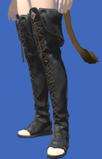 Model-Smilodonskin Open-toed Boots of Striking-Female-Miqote.png