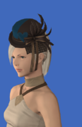 Model-Valentione Forget-me-not Ribboned Hat-Female-Hyur.png