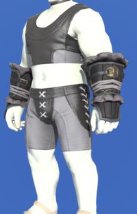 Model-Gyuki Leather Halfgloves of Striking-Male-Roe.png