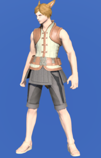 Model-Velveteen Doublet Vest of Gathering-Male-Miqote.png