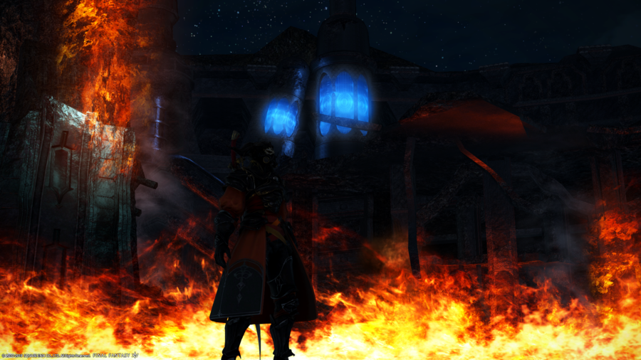 Gaius amidst the flames