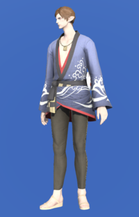 Model-Lord's Yukata (Blue)-Male-Elezen.png