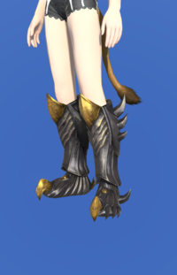 Model-Tarnished Feet of Pressing Darkness-Female-Miqote.png