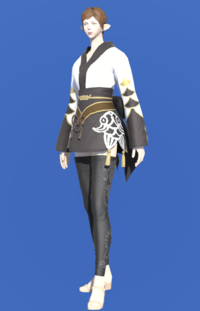 Model-Lady's Yukata (Black)-Female-Elezen.png