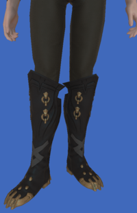 Model-Replica Sky Pirate's Boots of Fending-Male-Elezen.png