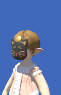 Model-Black Painted Moogle Mask-Female-Lalafell.png