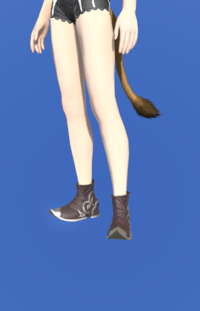 Model-Marid Leather Babouches of Gathering-Female-Miqote.png