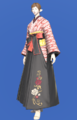 Model-Far Eastern Schoolgirl's Hakama-Female-Elezen.png