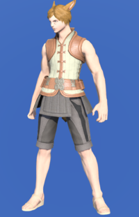 Model-Velveteen Doublet Vest of Crafting-Male-Miqote.png