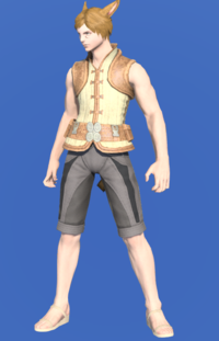 Model-Frayed Cotton Doublet Vest-Male-Miqote.png