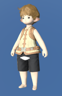 Model-Frayed Cotton Doublet Vest-Male-Lalafell.png
