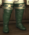 Gyuki Leather Highboots of Striking--huntergreen.png