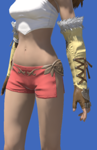 Model-Tigerskin Fingerless Gloves of Gathering-Female-Viera.png