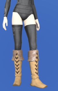 Model-Aetherial Boarskin Moccasins-Female-Elezen.png