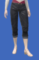 Model-Cropped Fireglass Leather Slops-Female-Elezen.png