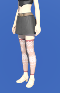 Model-Whisperfine Woolen Shorts-Female-Hyur.png