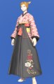 Model-Far Eastern Schoolgirl's Hakama-Female-Miqote.png
