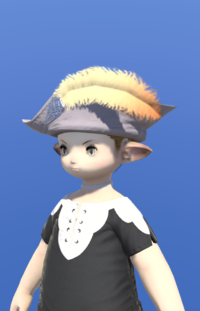 Model-Aetherial Felt Cavalier's Hat-Male-Lalafell.png